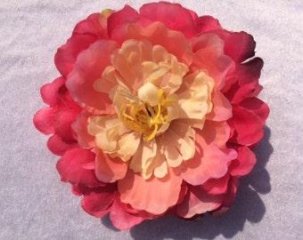 Silk Flowers 1 Jumbo Pink Peony Flower Artificial Flowers Scrapbooking Flower Embellishments Craft Flowers Fake Flowers