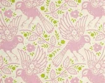 Fitted Crib Sheet, Pink Meadow Lark Crib Sheet, Toddler Sheet, Baby/Toddler Bedding, Pink Dove Crib Bedding