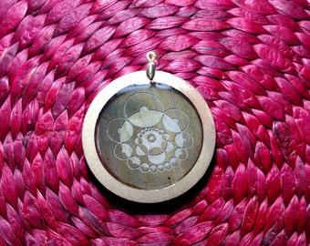 Crop circle pendant 4
