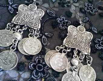 Silver Bohemian Dangling Earrings