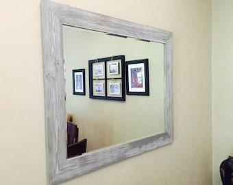 "Barn Wood Framed Beveled Mirror 24""x30, 20""x24"""