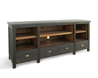 Media Console, TV Stand, Console Table, Reclaimed Wood, Sideboard, Table, Bookcase, Handmade