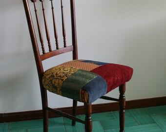 patchwork chaise etsy. Black Bedroom Furniture Sets. Home Design Ideas