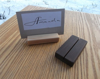 10 Wood place card holders, Table number holders, Wedding card holder, Wedding decor, Cafe, Restaurant table number holder, Wedding, Rustic