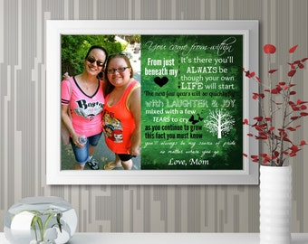 "Personalized ""Daughter Photo With Quote"" Wall Art"