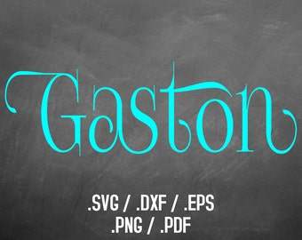 Gaston Font Design Files For Use With Silhouette Studio Software, DXF Files, SVG Font, EPS Files, Png Font, Cute and Fun Font Silhouette