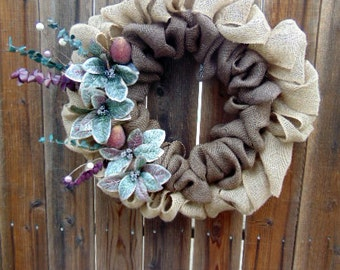 Everyday Wreath/Candied Fruit with Floral Accents