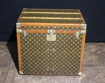 1930s Louis Vuitton Monogramm Hat Box Steamer Trunk