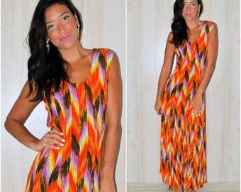 Chevron maxi dress | Etsy