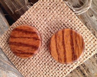 Wooden Stud Earrings   Handmade   Zebrawood
