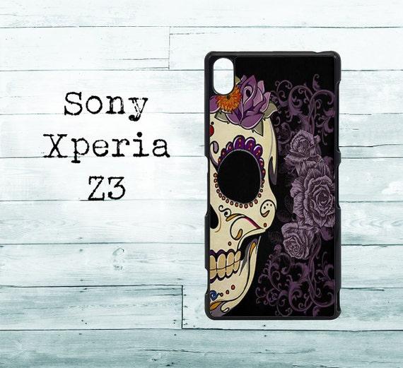 Sugar Skull Phone Cover Sony Xperia Z3 Case Roses Skull