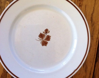 """Royal Ironstone China Grindley Copper Tea Leaf 9"""" Luncheon Plate"""
