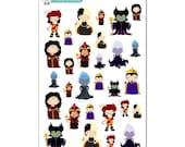 Disney Villains Stickers - Disney Planner Stickers