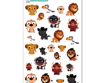 Lion King Stickers - Disney Planner Stickers