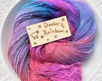 Alpaca / Merino blend hand dyed sock weight yarn.