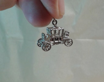 A royal carriage sterling silver charm