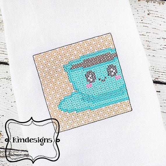 Kitchen embroidery machine cross stitch ith design file 4x4 for Cross stitch kitchen designs