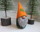 Irish Gnome, Leprechaun Gnome, Swedish gnome, Handmade Tomte, Nisse, Medium