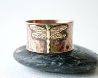 Dragonfly  Wide Copper Band