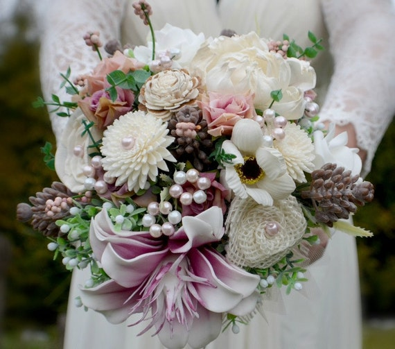 wedding bouquets adelaide wedding bouquet pink adelaide and by marcellinewedding on etsy 8491