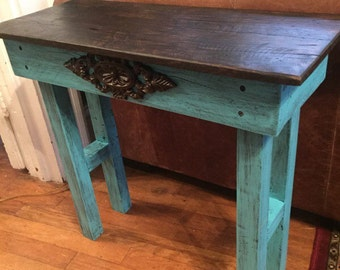 End table, reclaimed wood table, reclaimed wood end table, wood table, reclaimed wood, home furnishings, wood end table, table, rustic decor