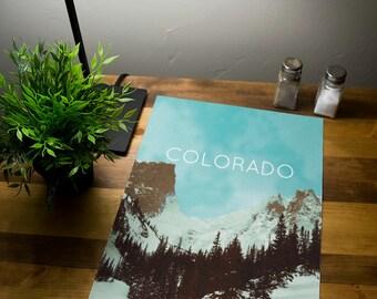 Colorado Rocky Mountains Poster 11x17 18x24 24x36