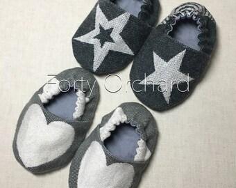 Wrap scrap soft sole baby shoes