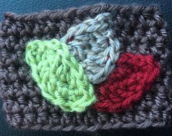 Crochet Leaf Coffee Cozy