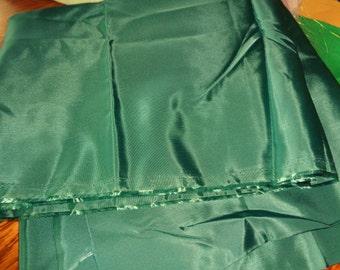 1 1/2 yard dark green teal taffeta