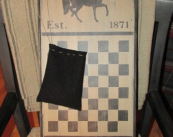 """Handmade Wooden Gameboard 