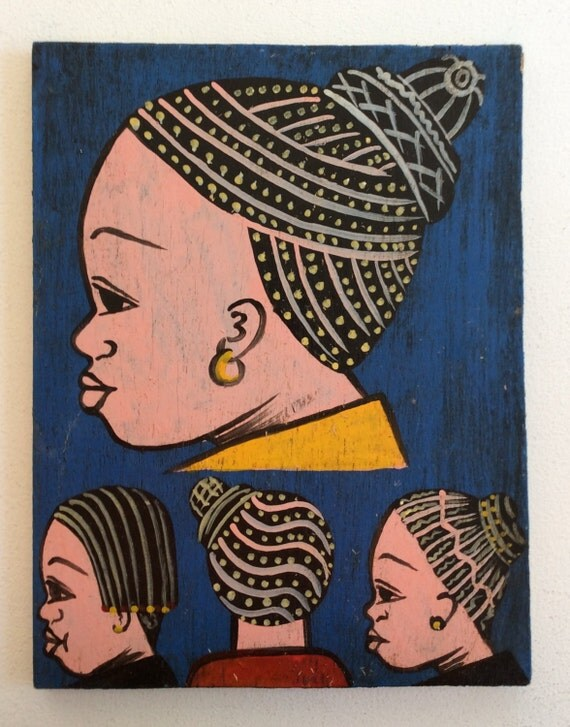 West African Hair Salon Sign