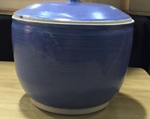 Large Purple Lidded Jar- Pottery Wheel Thrown Handmade Ceramic Gift Idea Birthday Jar Storage Kitchen Purple Cookie Jar Holiday Christmas
