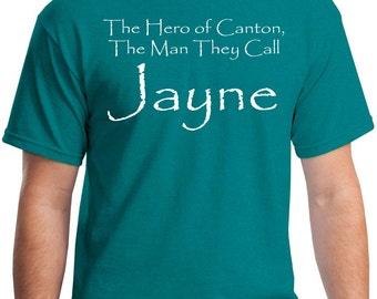 The Hero of Canton the man they call Jayne Firefly Serenity Mens Womens Youth Long Sleeve V-Neck Sizes up to 5XL