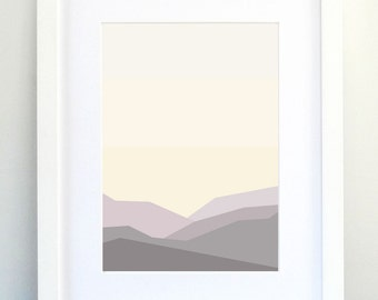 Landscape Art Print, Neutral Art, Abstract Landscape Print, Minimalist Print, Modern Home Decor!