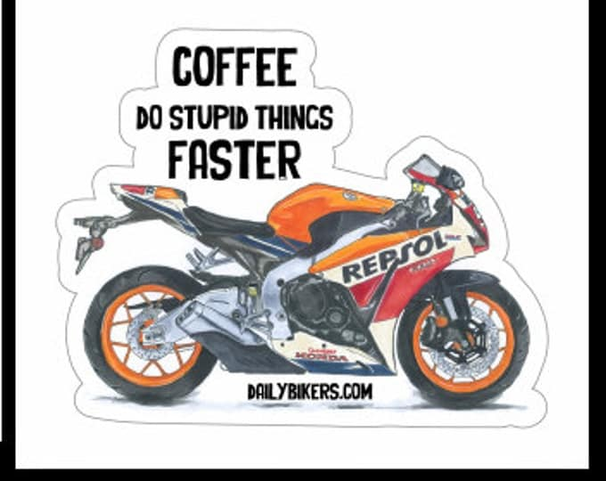 Motorcycle Stickers - Honda Fireblade drawing printed on high quality vinyl stickers