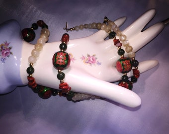 Asian Vintage Beaded Necklace