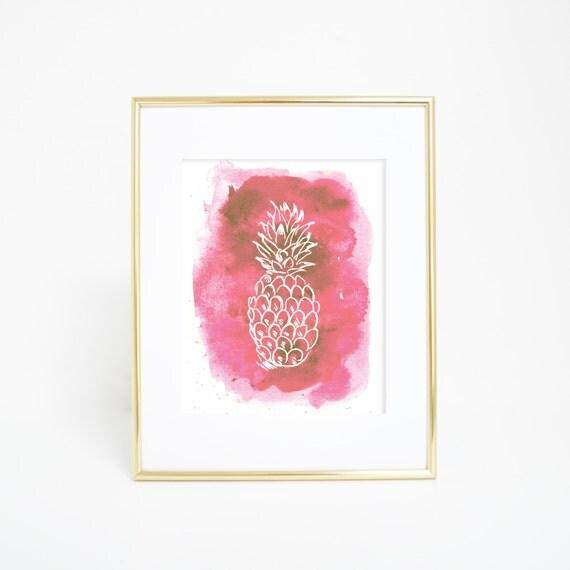 Tropical Decor, Nursery Print, Nursery Decor, Pineapple Print, Pineapple Decor, Printable Download, Tropical Print, Nursery Wall Art