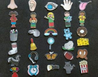 5 Senses Felt Set// Five Senses Flannel Board // Felt Game // Children // Preschool // Pre-K