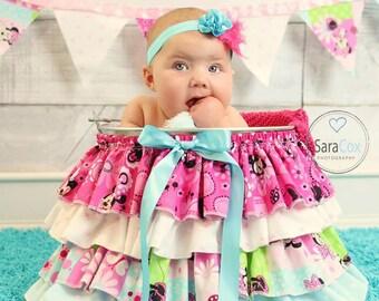 Hot Pink/Turquoise Kara Baby Flower Headband Photo Prop