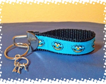 3/4 Inch Wide Animal Inspired Grosgrain Pattern Key Chain with Charm