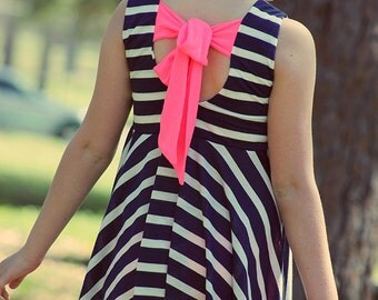 Adelyn's Scoop Back Top & Dress. PDF sewing patterns for girls sizes 2t-12