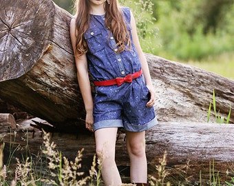 Jane's Romper & Dress. PDF sewing patterns for girls sizes 2t-12