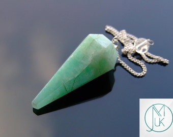 Amazonite Gemstone Point Pendulum Dowsing Crystal Dowser Scrying Reiki Chakra Healing FREE UK SHIPPING
