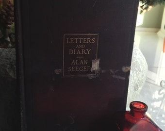 CLEARANCE** Letters and Diary by Alan Seger Antique Book from 1917