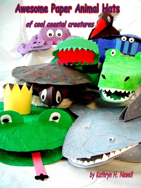 awesome paper animal hats of cool coastal creatures