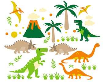 SALE! Dinosaur CLIPART Dinosaurs Clip Art Invitations png Images Dino Printable Graphic Invites Cards instant download Scrapbooking