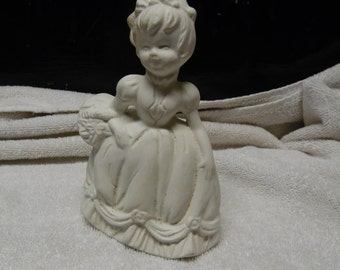 Ceramic bisque ready to paint Old Fashioned Girl