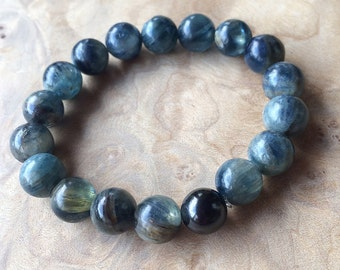 Blue Kyanite and Shungite Grounding Bracelet