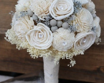 sola bouquet, wedding flowers, rustic wedding, wedding decorations, wedding, bridal bouquet, silver wedding, country wedding, chic wedding