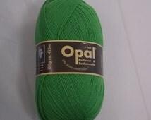 Sockyarn green 4ply yarn 100g 425m Opal Nr 1990 plain solid uni colour beautiful quality knitting yarn jumperyarn wonderful soft grass green